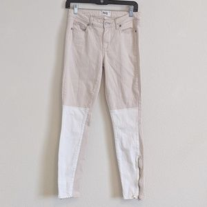 Paige | Two toned color block skinny Jeans | 30